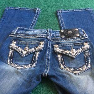 Miss Ne Distressed Bootcut Jeans
